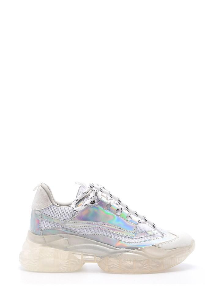 Gri Kadın Şeffaf Tabanlı Sneaker 5638083664
