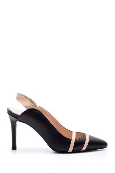 5638043849 Kadın Şeritli Topuklu Ayakkabı
