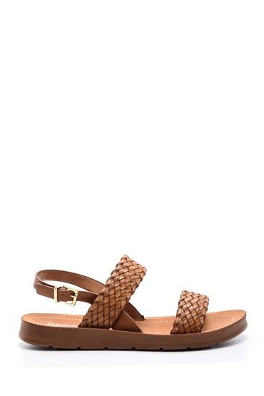5638021248 Kadın Hasır Görünümlü Sandalet
