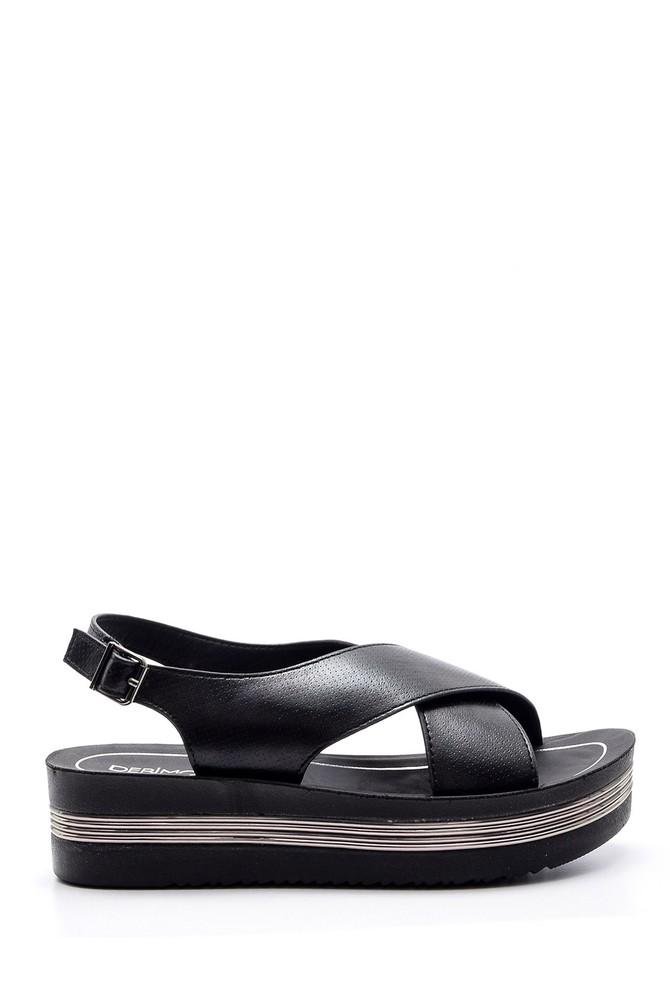 5638003812 Kadın Dolgu Topuklu Sandalet