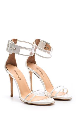 Kadın Şeffaf Detaylı Topuklu Ayakkabı