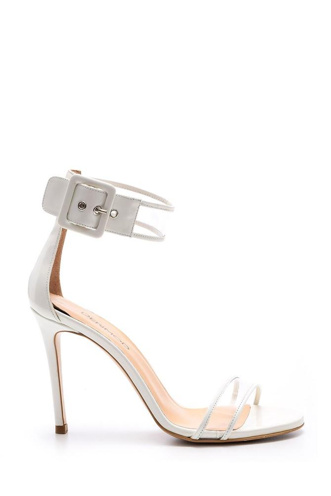 5638060766 Kadın Şeffaf Detaylı Topuklu Ayakkabı