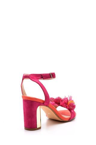 Kadın Süet Metal Topuk Detaylı Ayakkabı