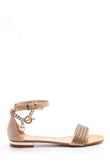 5638004438 Kadın Zincir Detaylı Sandalet