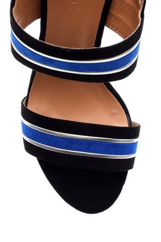 Kadın Şeritli Topuklu Ayakkabı