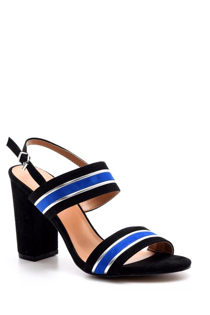 5638021372 Kadın Şeritli Topuklu Ayakkabı