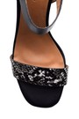5638021278 Kadın Kroko Desenli Topuklu Ayakkabı