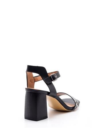 Kadın Kroko Desenli Topuklu Ayakkabı