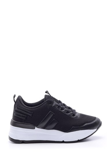 Siyah Kadın Yüksek Tabanlı Sneaker 5638091281