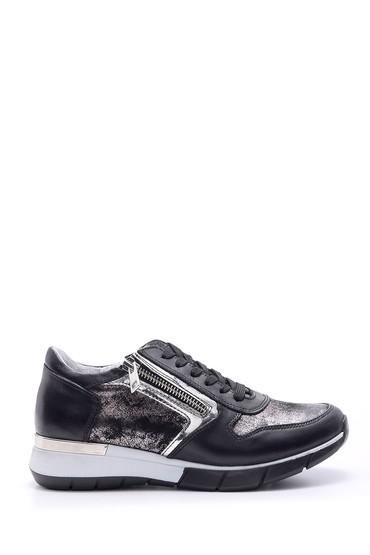 5638095629 Kadın Fermuar Detaylı Sneaker
