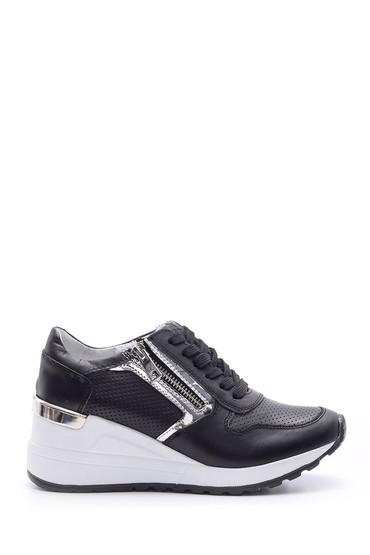 5638095646 Kadın Fermuar Detaylı Sneaker