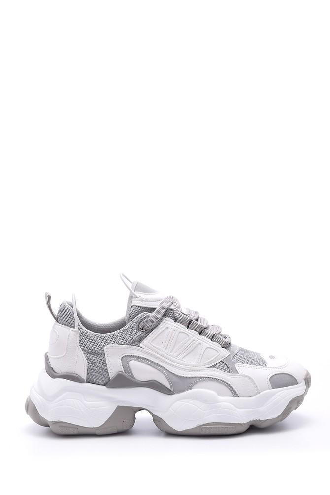 Gri Kadın Yüksek Tabanlı Sneaker 5638095965