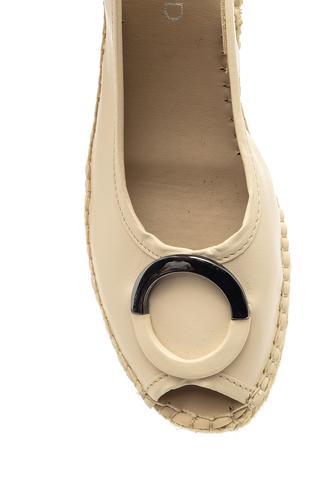 Kadın Dolgu Topuklu Burnu Açık Espadril Ayakkabı
