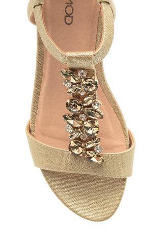 Kadın Taşlı Dolgu Tabanlı Sandalet