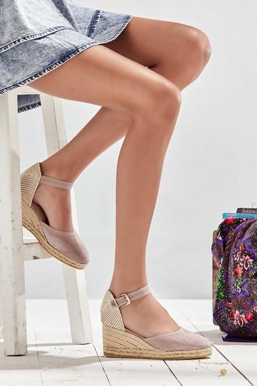 5638040033 Kadın Dolgu Topuklu Espadril Ayakkabı