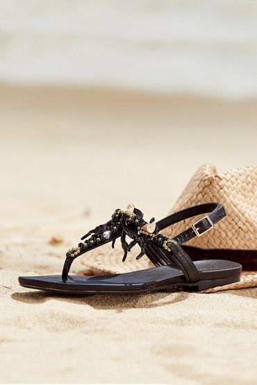 5638004407 Kadın Deniz Kabuğu Detaylı Sandalet