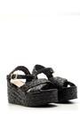 5638041581 Kadın Dolgu Topuklu Hasır Sandalet