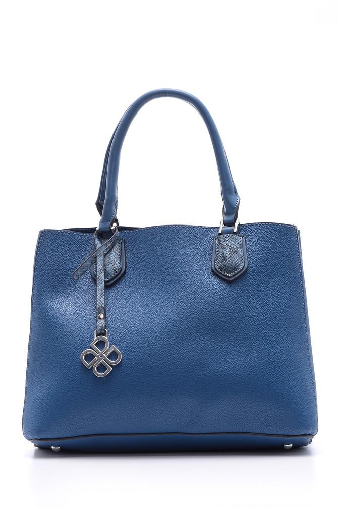 Mavi Kadın Kroko Detaylı Omuz Çantası 5638030970