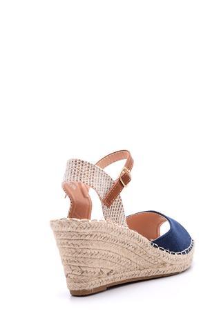 Kadın Süet Dolgu Topuklu Espadril Ayakkabı
