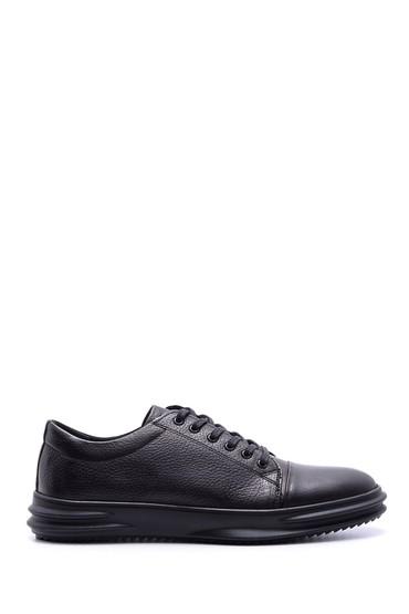 Siyah Erkek Deri Sneaker 5638074092