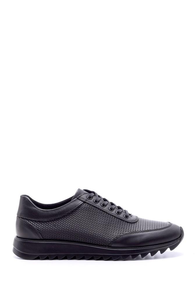 Siyah Erkek Deri Sneaker 5638074287