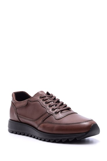 Kahverengi Erkek Deri Sneaker 5638074540