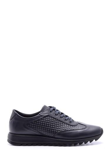 Lacivert Erkek Deri Sneaker 5638074557