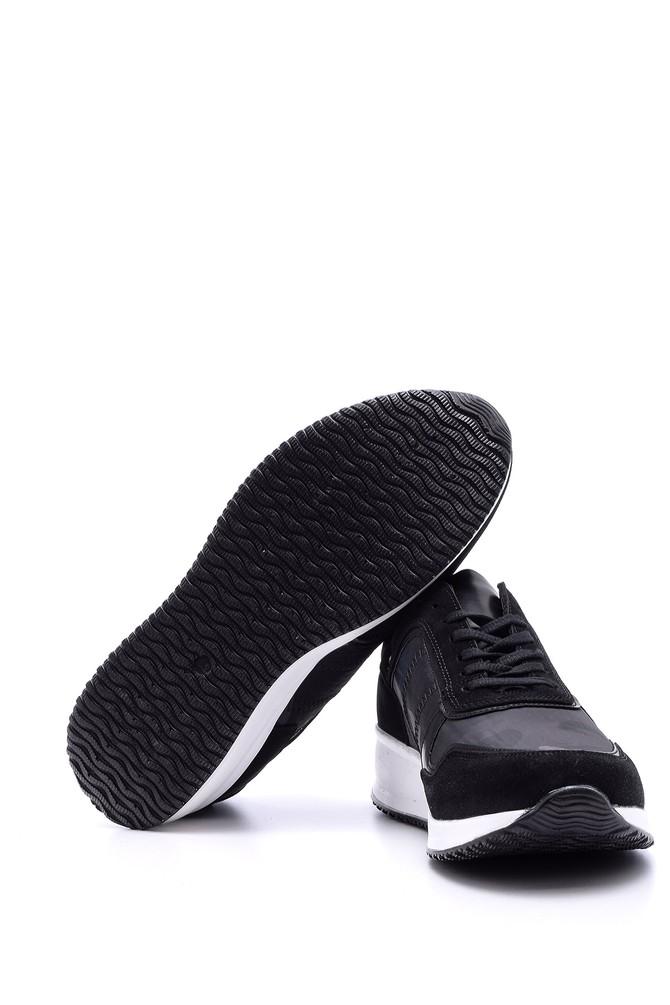 5638080341 Erkek Yüksek Tabanlı Deri Sneaker