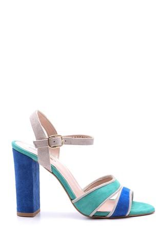 Kadın Süet Bantlı Topuklu Ayakkabı