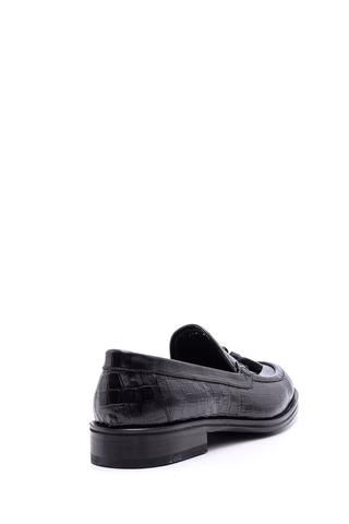 Erkek Deri Kösele Kroko Desenli Ayakkabı