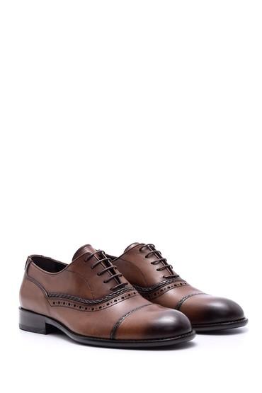 Kahverengi Erkek Deri Kösele Tabanlı Ayakkabı 5638088382
