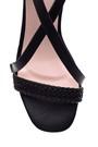 5638022519 Kadın Örgü Detaylı Topuklu Ayakkabı