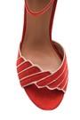 5638021402 Kadın Süet Bilekten Bağlamalı Topuklu Ayakkabı