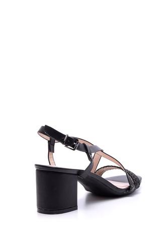 Kadın Örgü Detaylı Topuklu Ayakkabı