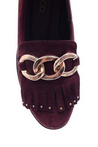 Taş Detaylı Kadın Deri Ayakkabı