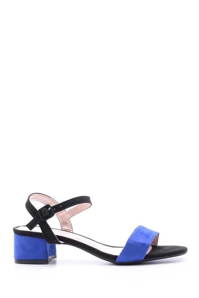 Mavi Kadın Süet Topuklu Ayakkabı 5638022493