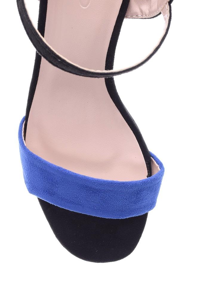 5638022493 Kadın Süet Topuklu Ayakkabı