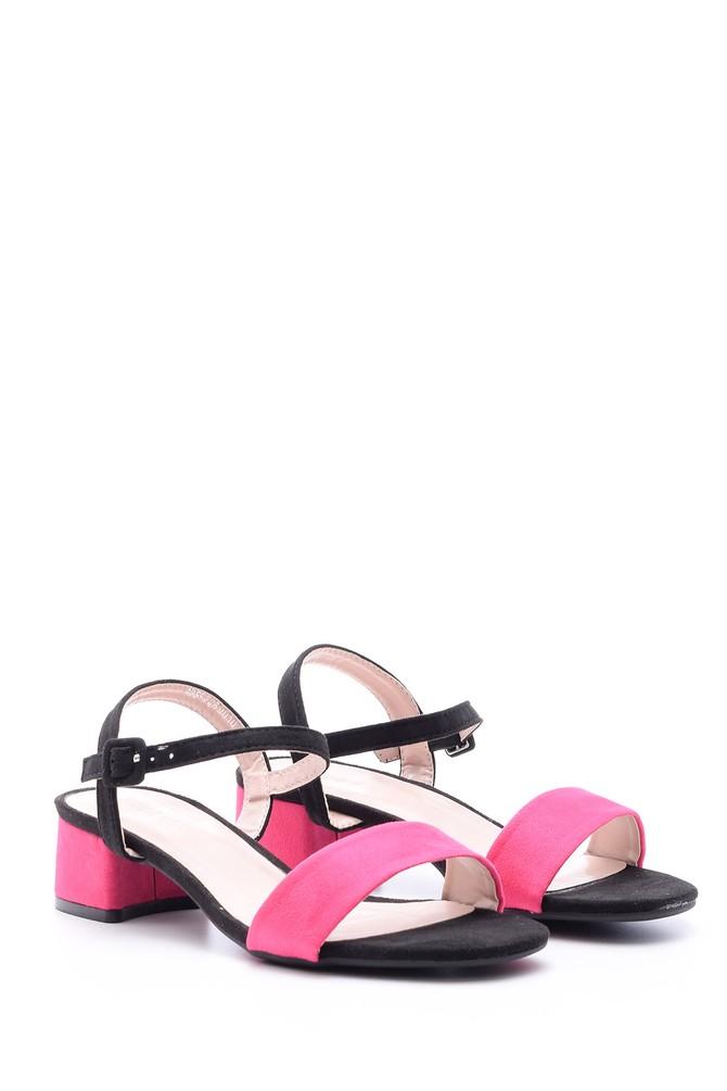 5638022495 Kadın Süet Topuklu Ayakkabı