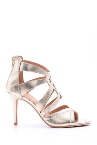 Kadın Gold Topuklu Ayakkabı