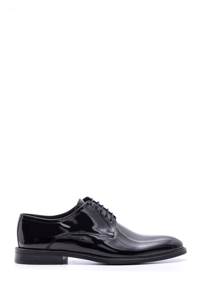 Siyah Erkek Klasik Rugan Deri Ayakkabı 5638080197
