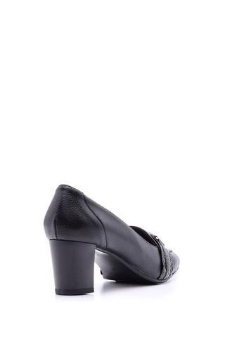 Kadın Kroko Detaylı Deri Topuklu Ayakkabı