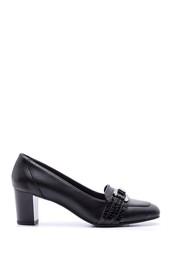 5638066136 Kadın Kroko Detaylı Deri Topuklu Ayakkabı