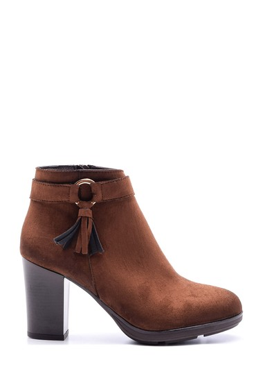 Kahverengi Kadın Süet Topuklu Bot 5638067220