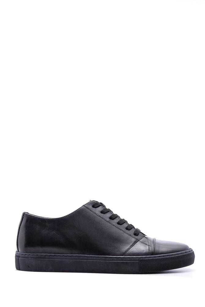 Siyah Erkek Deri Sneaker 5638088922