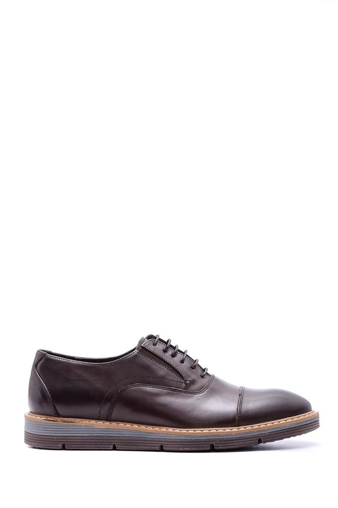 Kahverengi Erkek Bağcıklı Deri Ayakkabı 5638089675