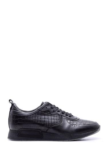 Siyah Erkek Kroko Desenli Sneaker 5638089734