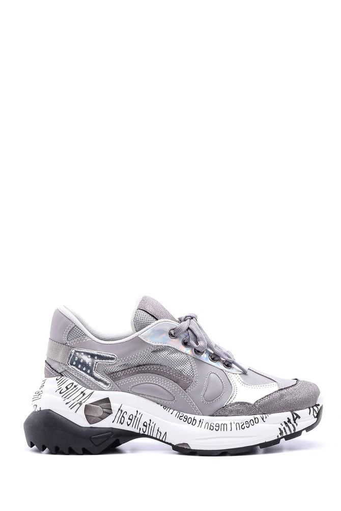 Gri Kadın Yüksek Tabanlı Sneaker 5638096107