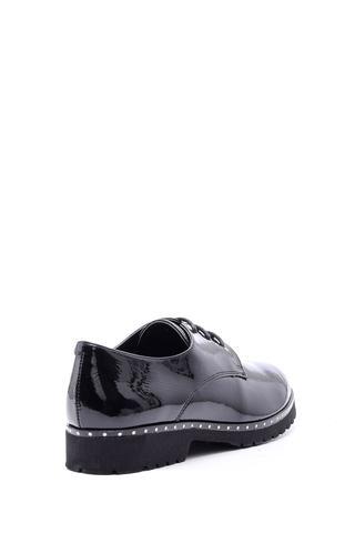 Kadın Rugan Taş Detaylı Ayakkabı