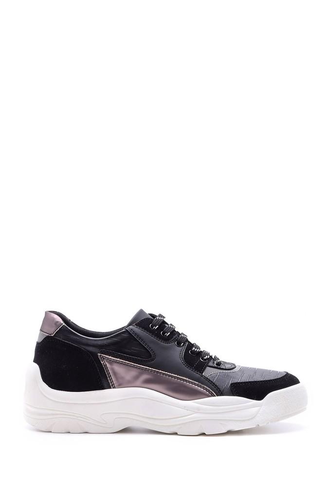 Siyah Erkek Yüksek Tabanlı Sneaker 5638097936
