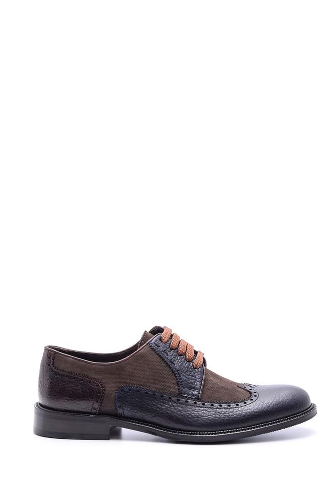 Lacivert Erkek Bağcık Detaylı Deri Ayakkabı 5638079849
